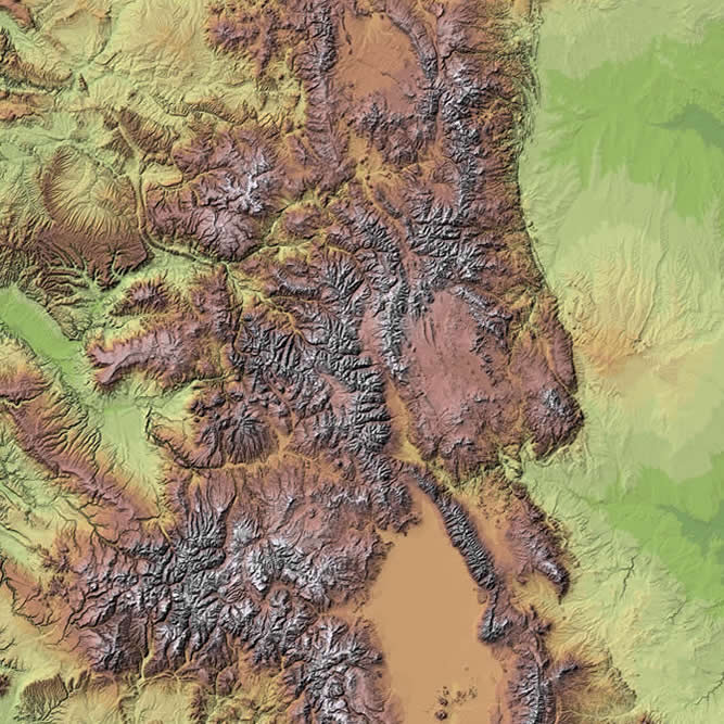 Colorado Shaded Relief