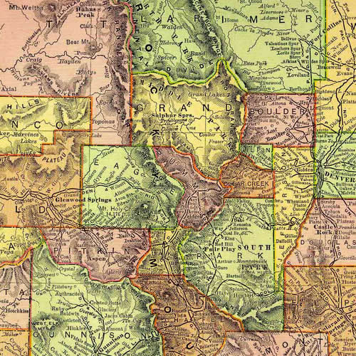 Colorado Map 1895